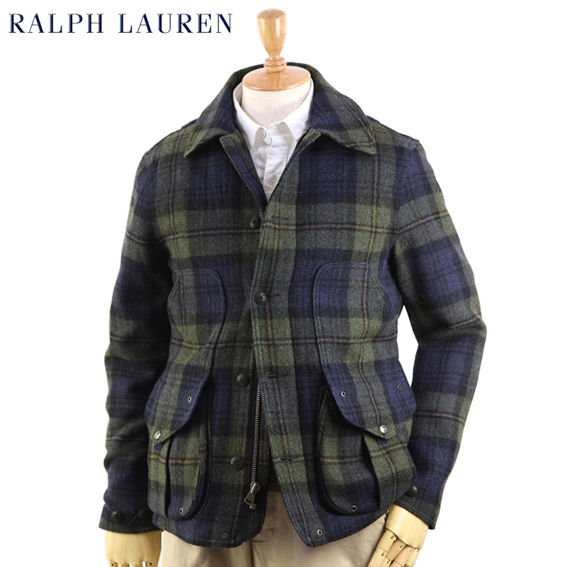 f7bd0652 POLO by Ralph Lauren Men's Wool Plaid Hunting Jacket US Polo Ralph Lauren  wool checked hunting jacket