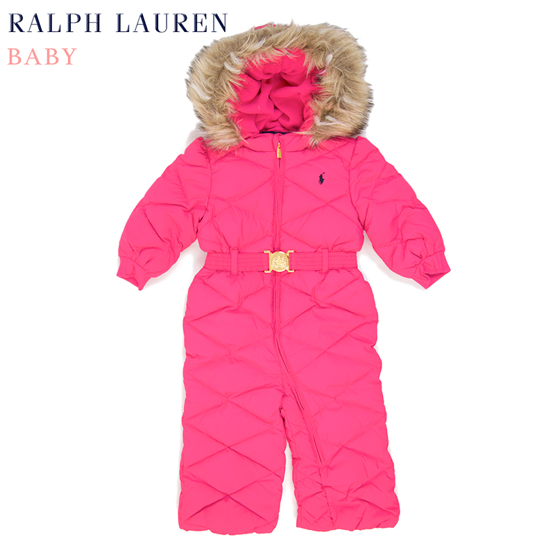 "(9M-24M) POLO by Ralph Lauren ""INFANT"" Down Hooded Suit Bunting"