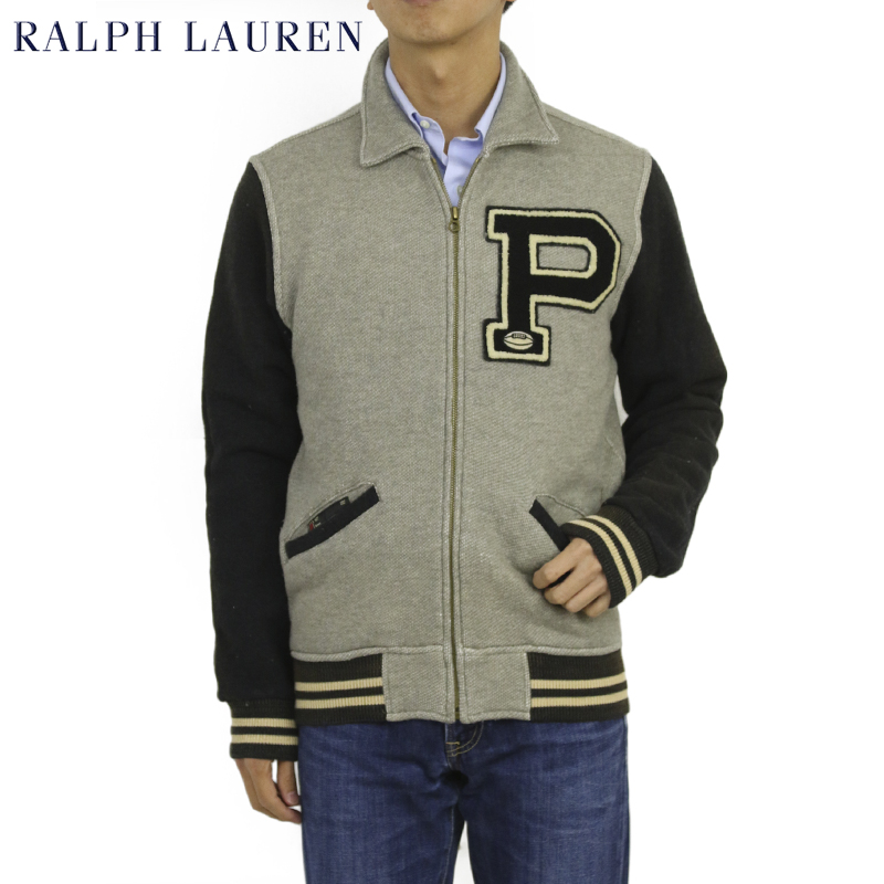 Ralph Lauren Men's Fleece Varsity Jacket USラルフローレン スウェット スタジアムジャンパー スタジャン インディアン