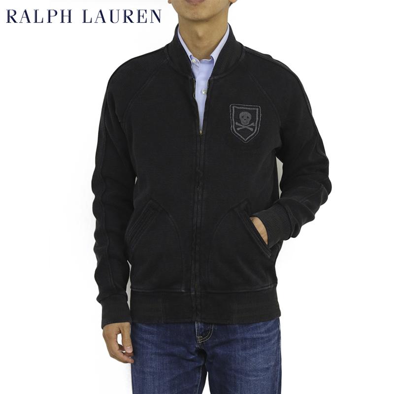 Ralph Lauren Men's Fleece Varsity Jacket USラルフローレン スウェット スタジアムジャンパー スタジャン スカル