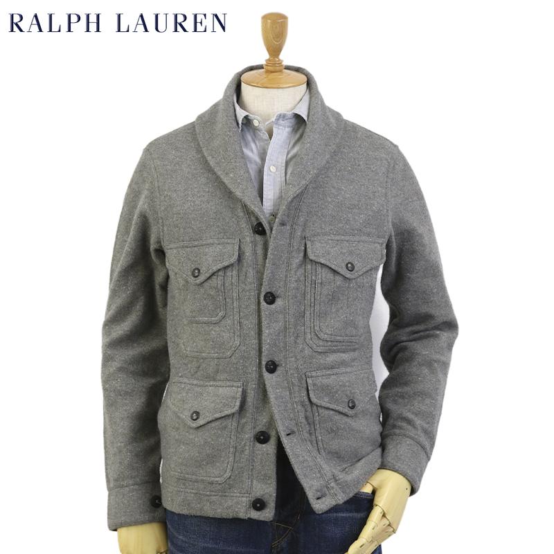POLO Ralph Lauren Men's Flannel Fleece Shwal-Collar Sportsman Jacket USラルフローレン ショールカラー クルーザー ジャケット カーディガン