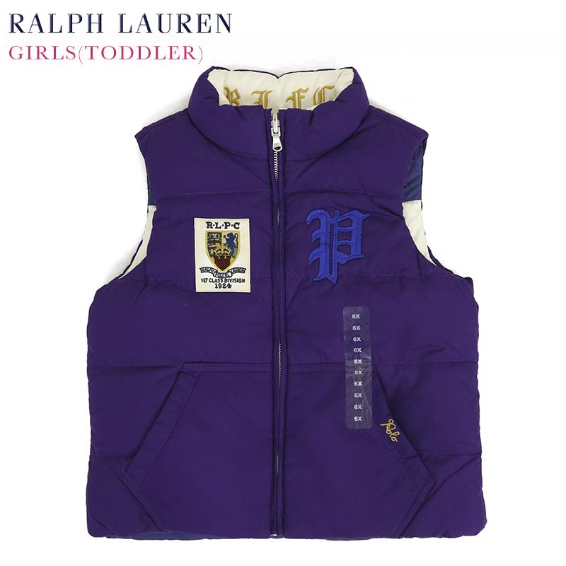ラルフローレン ガールズ用 リバーシブル ストライプ ダウンベスト(2-6X) POLO by Ralph Lauren GIRLS (2-6X) Down Vest