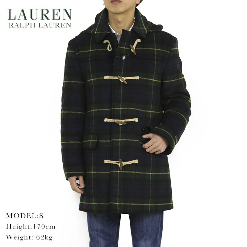 LAUREN by Ralph Lauren Men's Toggle Coat ローレン ラルフローレン トグル ダッフルコート ブラックウォッチタータン