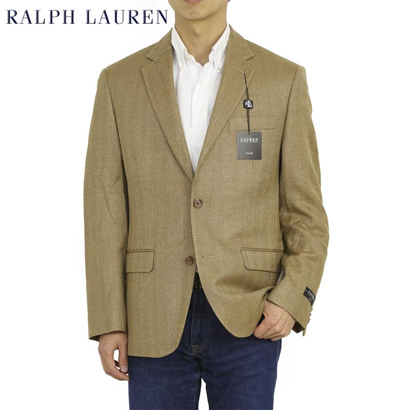 LAUREN by Ralph Lauren Men's SILK/Wool Jacket USポロ ラルフローレン ヘリンボーン 2つボタン ジャケット スポーツコート