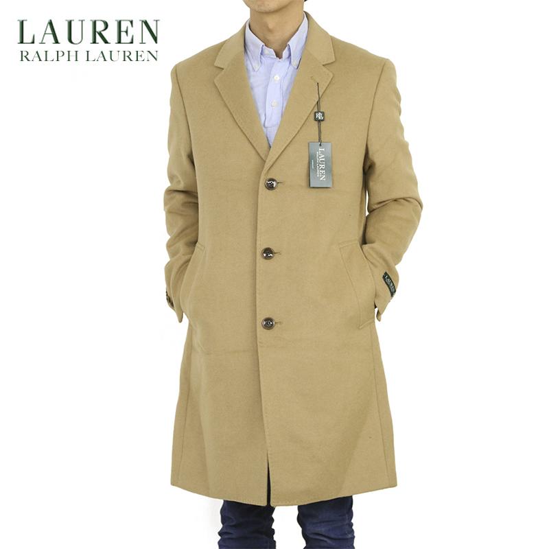 LAUREN by Ralph Lauren Men's Camel Chester coat US ローレン ラルフローレン キャメル ウール カーコート チェスターコート