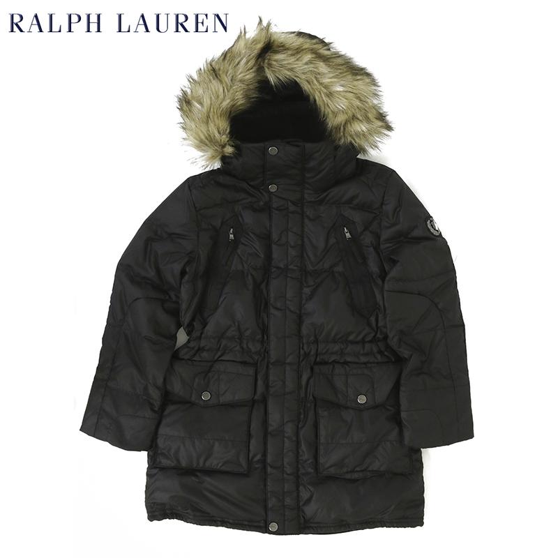 ポロ ラルフローレン ガールズ用 ファー付きフード ダウンジャケットPOLO by Ralph Lauren Girls Down Jacket US