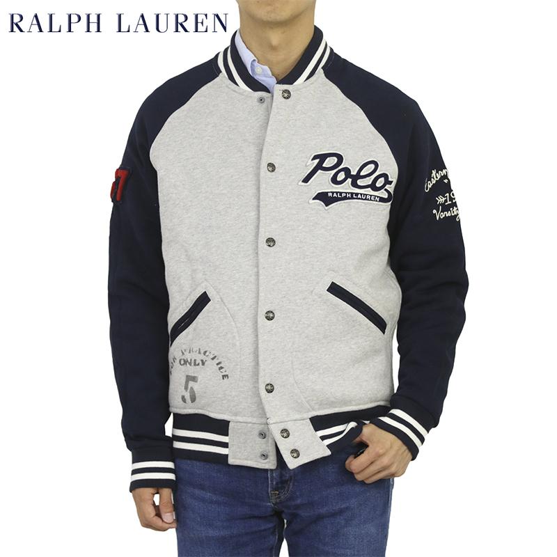 ポロ ラルフローレン スウェット スタジアムジャンパー スタジャン POLO Ralph Lauren Men's Fleece Varsity Jacket US