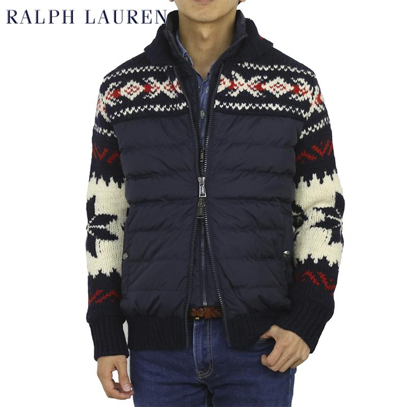 ポロ ラルフローレン カウチンニット ダウンジャケット POLO by Ralph Lauren Men's Cowichan Knit Down Jacket US