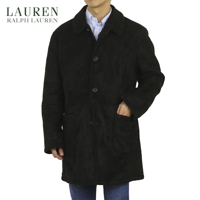 LAUREN by Ralph Lauren Men's Faux Boa Overcoat US ローレン ラルフローレン フェイクスウェード オーバーコート