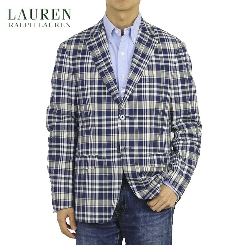 LAUREN by Ralph Lauren Men's Cotton Madras Jacket US ローレン ラルフローレン マドラスチェック コットン ジャケット スポーツコート