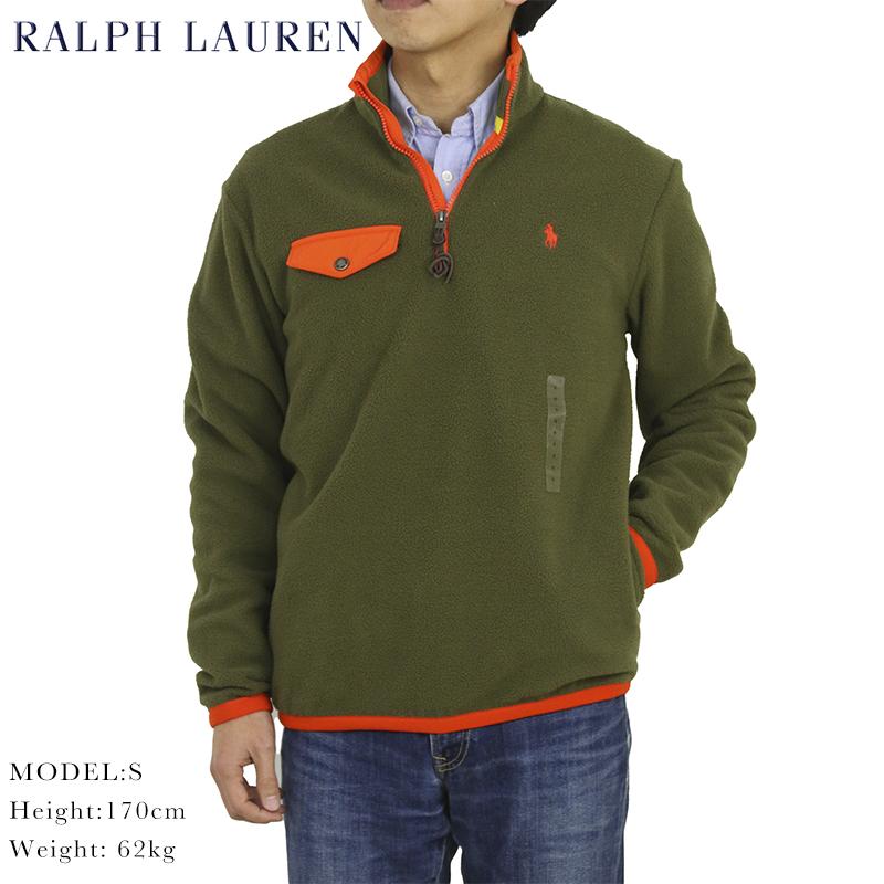 ポロ ラルフローレン フリース ハーフジップ プルオーバー ジャケット POLO Ralph Lauren Men's PO Fleece Jacket US