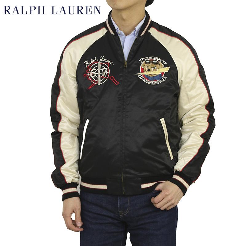 ポロ ラルフローレン スカジャン ジャケット ポロベアー刺繍 POLO Ralph Lauren Men's Souvenir Jacket