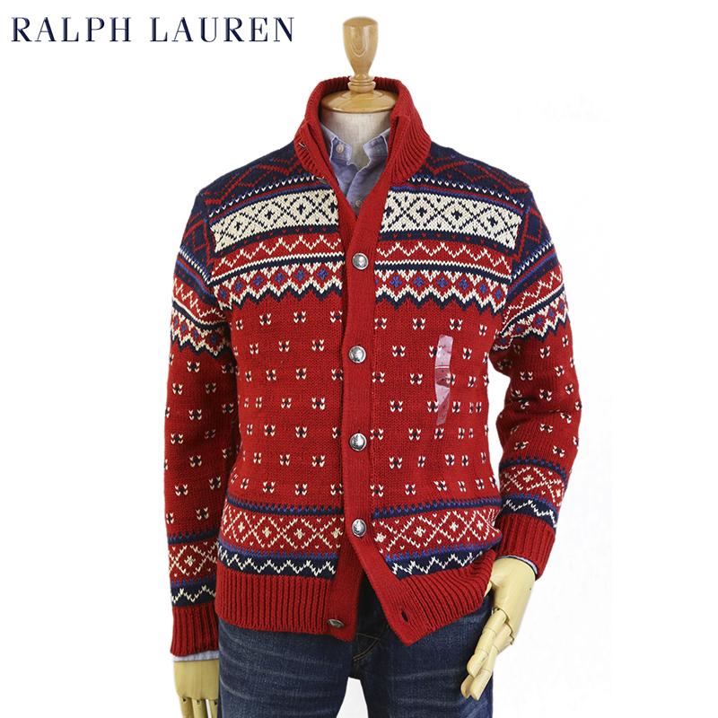 Ralph Lauren Men's Nordic Cardigan Sweater US ポロ ラルフローレン ノルディック柄 カーディガンセーター