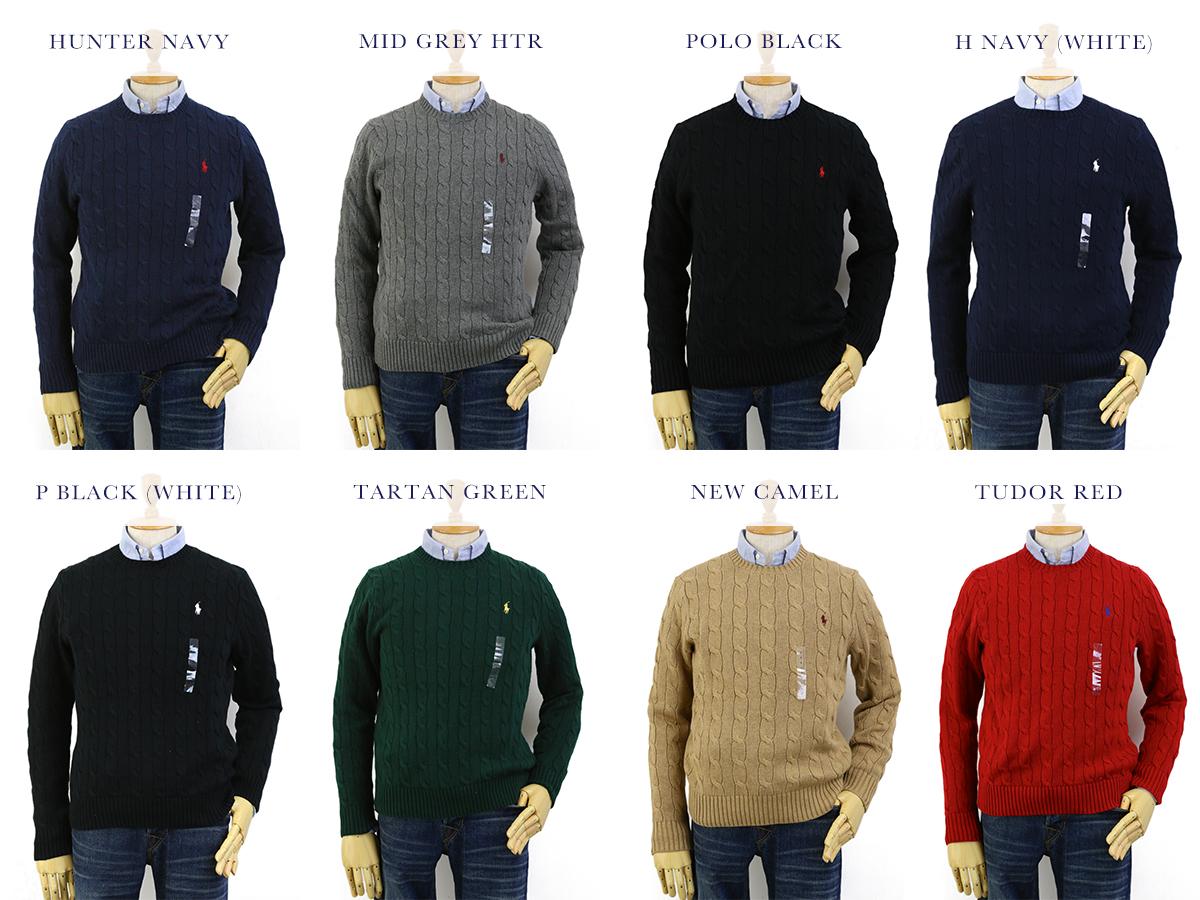 ad68a3a978b6 ... discount code for ralph lauren mens cotton cable sweater us polo ralph  lauren cotton crew neck