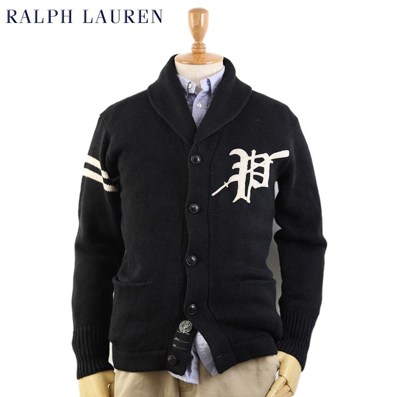 Ralph Lauren Men's Lettered Shawl Cardigan US ポロ ラルフローレン レタード ショールカラーカーディガン