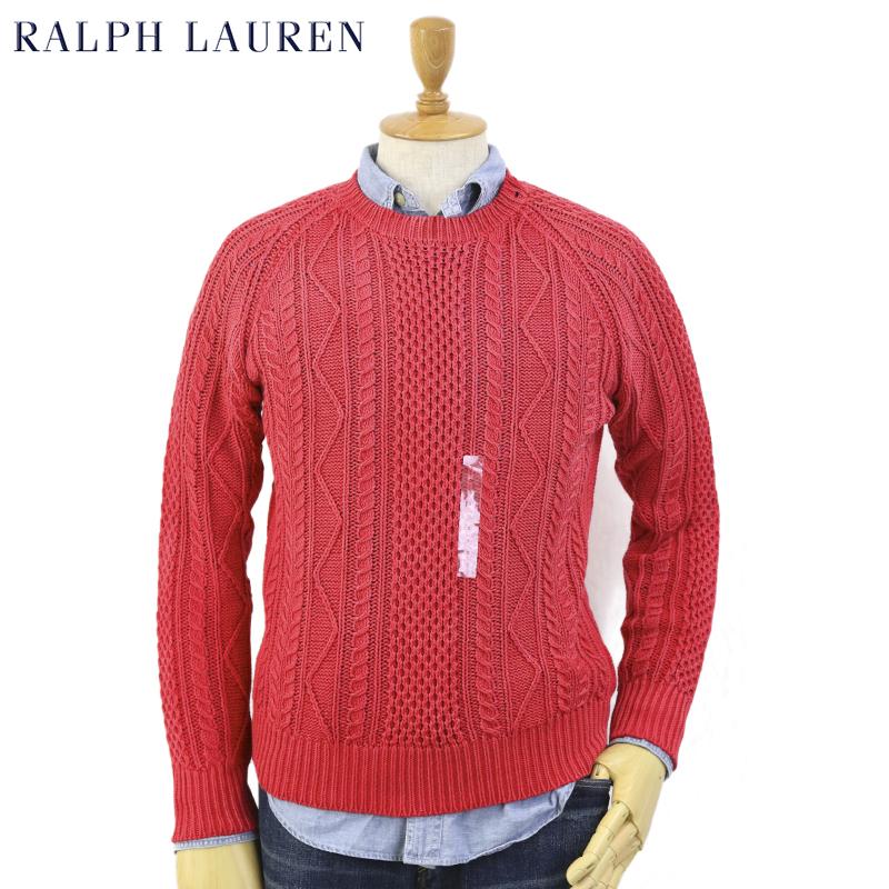 Ralph Lauren Men's Cotton Cable Sweater US ポロ ラルフローレン ケーブルコットン クルーネック セーター