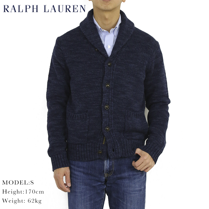 ポロ ラルフローレン ショールカラー カーディガン POLO Ralph Lauren Men's Cotton Rag Shawl Collar Cardigan US