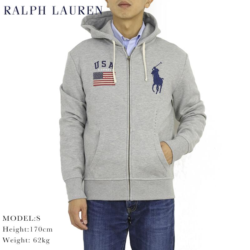 ポロ ラルフローレン ジップアップスウェットパーカー アメリカ国旗 ビッグポニー フーディー POLO Ralph Lauren Men's