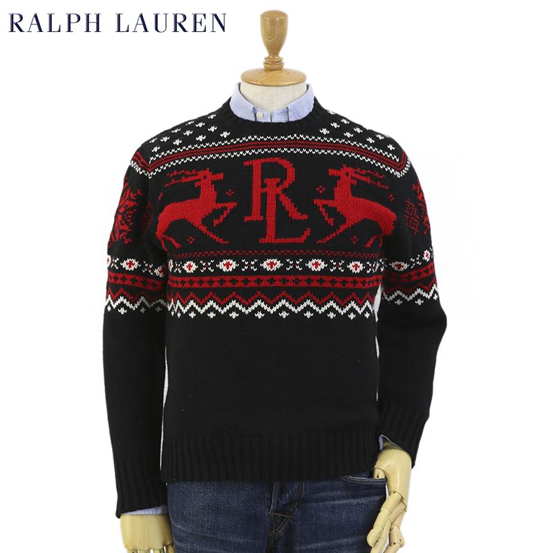 Ralph Lauren Men's Nordic Cotton/Cashmere Crew Sweater US ポロ ラルフローレン コットン/カシミア クルーネックセーター