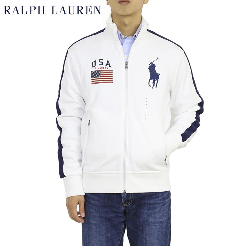 ポロ ラルフローレン スウェット アメリカ国旗 ビッグポニージャージ トラックジャケット Polo Ralph Lauren Men's