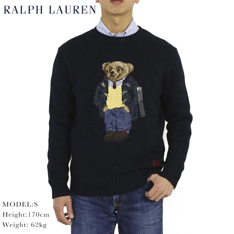 ポロ ラルフローレン ポロベアー クルーネックセーター ダッフルコートベア POLO Ralph Lauren Men's