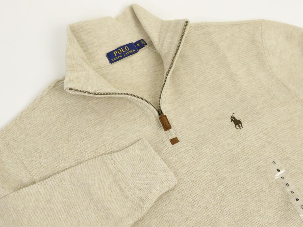 スウェット ボーダー ラルフローレン Ralph Lauren Mens French-Rib 1/2 Zip Pullover Sweater US メンズ ポロ ハーフジップ プルオーバー