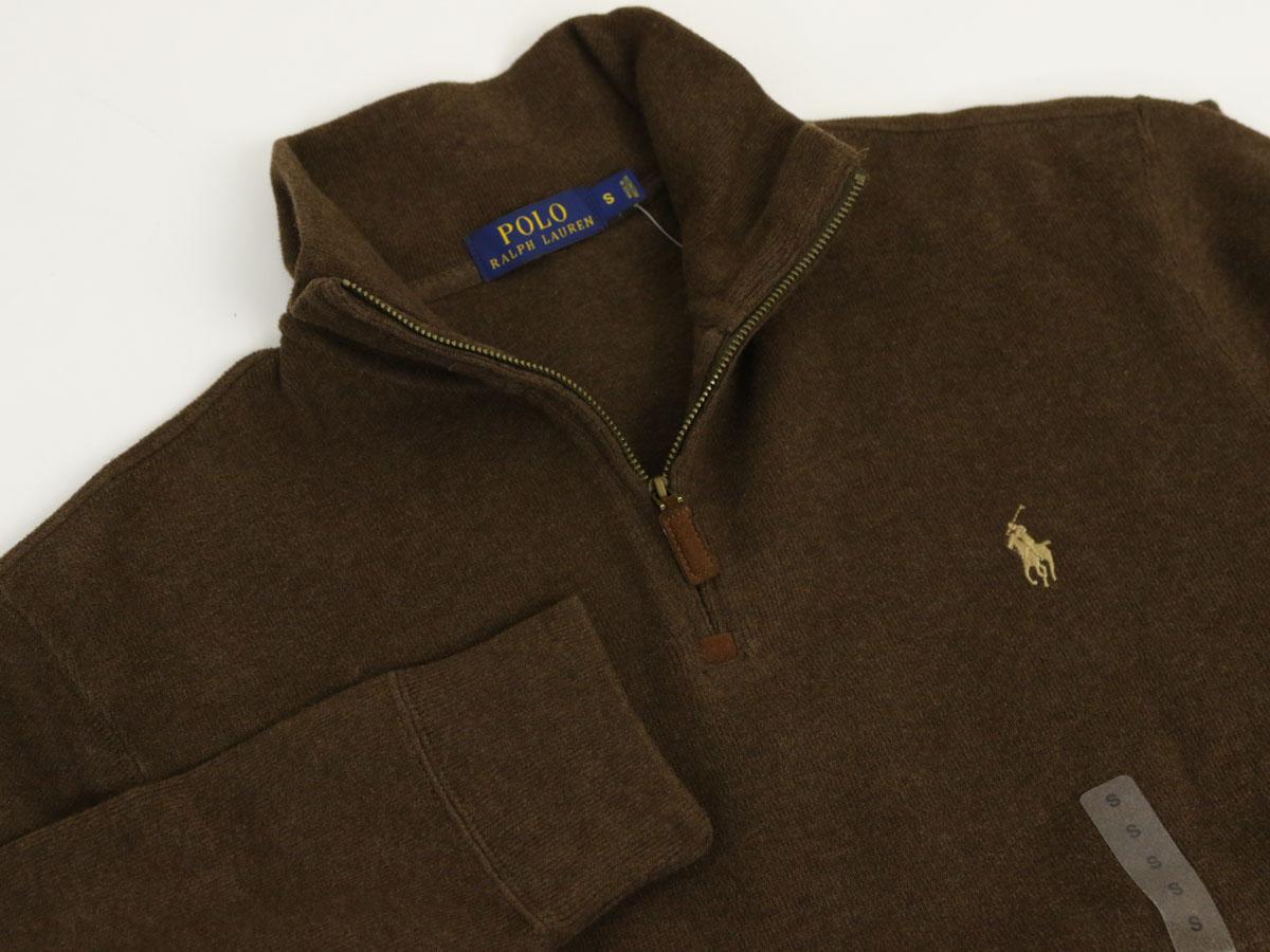 ラルフローレン ボーダー メンズ ハーフジップ ポロ プルオーバー スウェット Ralph Lauren Mens French-Rib 1/2 Zip Pullover Sweater US