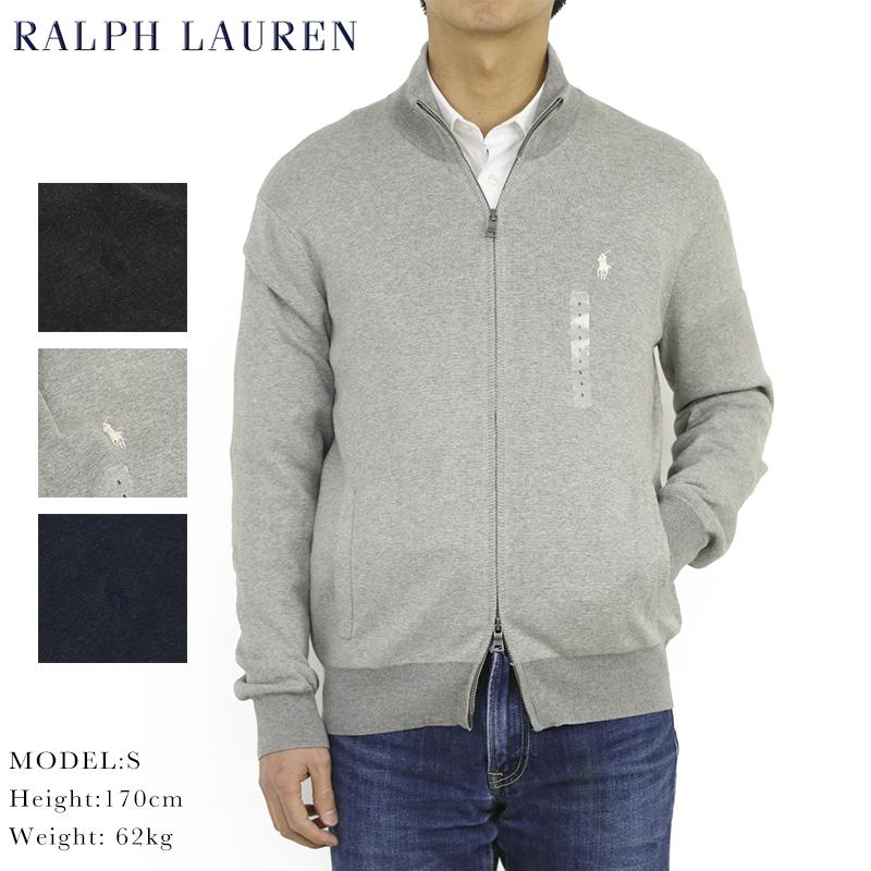 ポロ ラルフローレン ピマコットンのフルジップセーター ジャケット POLO Ralph Lauren Men's