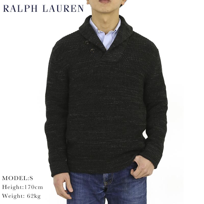 ポロ ラルフローレン コットン ショールカラー セーター POLO Ralph Lauren Men's Cotton Shawl Sweater US