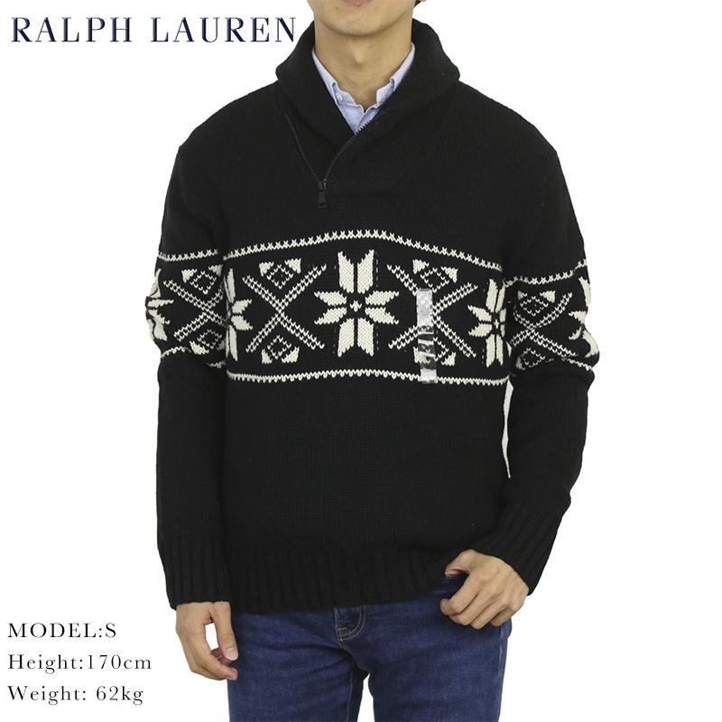 ポロ ラルフローレン コットン/カシミア ショールカラー セーター POLO Ralph Lauren Men's Cotton/Cashmere Shawl Sweater US