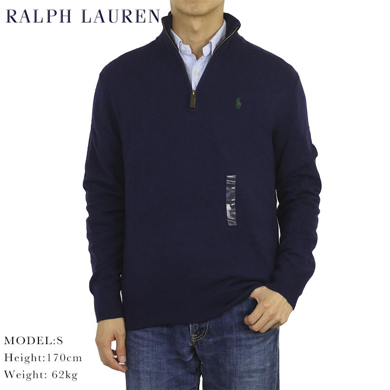 ポロ ラルフローレン メリノウールのハーフジップ セーター POLO Ralph Lauren Men's Merino Wool Half-Zip Sweater 売れ筋