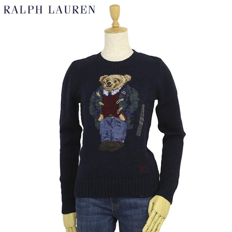 ポロ ラルフローレン レディース ポロベアー クルーネック コットン/リネン プルオーバー セーター POLO Ralph Lauren Women's
