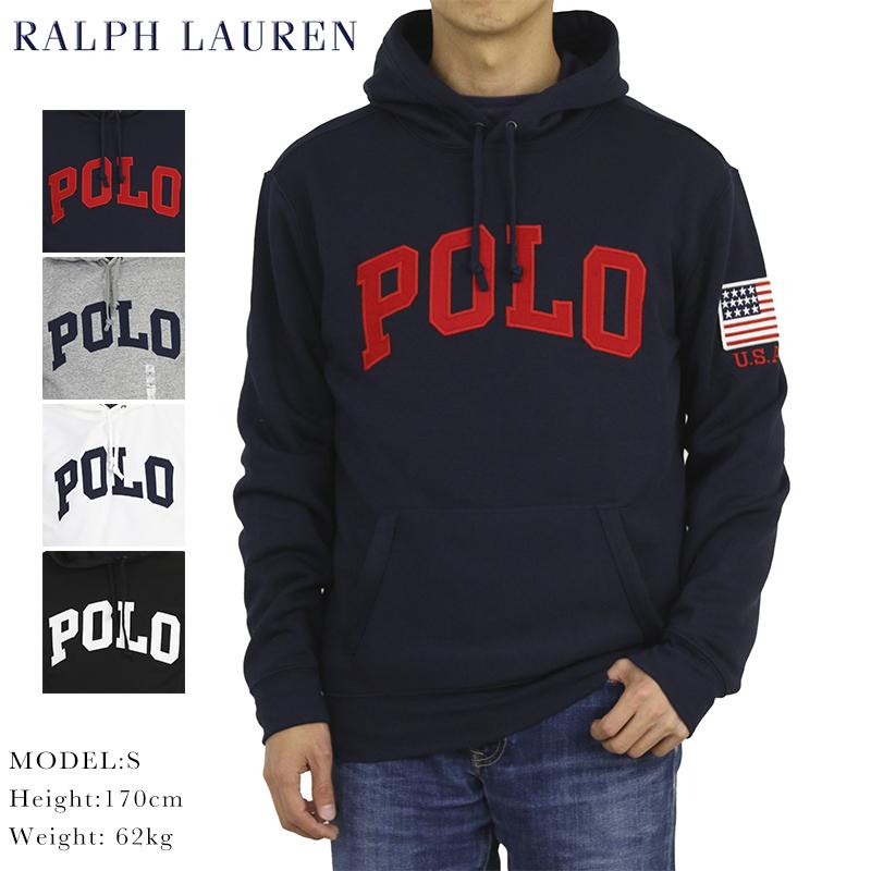 ポロ ラルフローレン POLOロゴ アメリカ国旗 プルオーバー スウェット パーカー POLO Ralph Lauren Men's