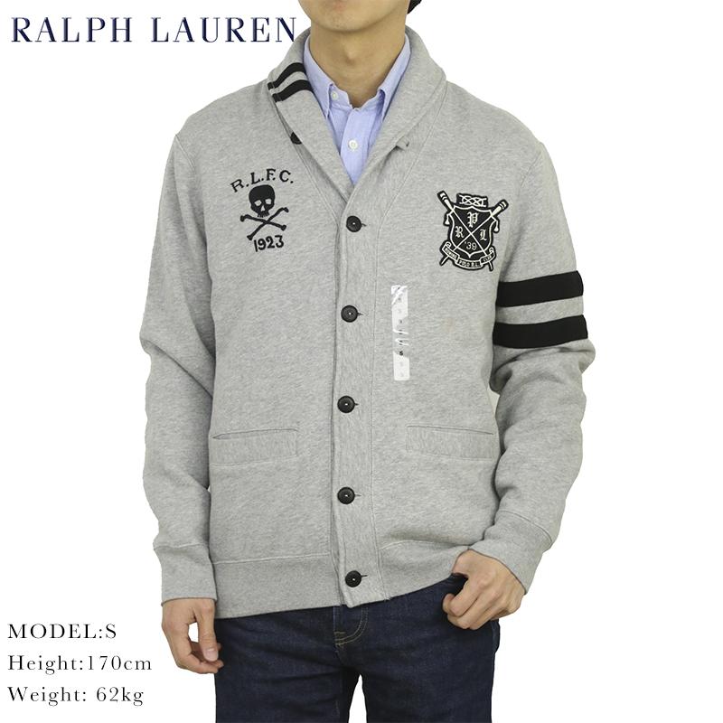 ポロ ラルフローレン スカルエンブレム スウェット ショールカラーカーディガン POLO Ralph Lauren Men's Sweat Shawl Cardigan US