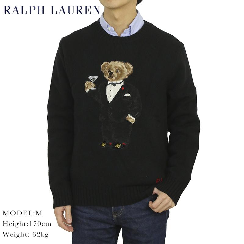 ポロ ラルフローレン ポロベアー クルーネックセーター タキシードベア POLO Ralph Lauren Men's