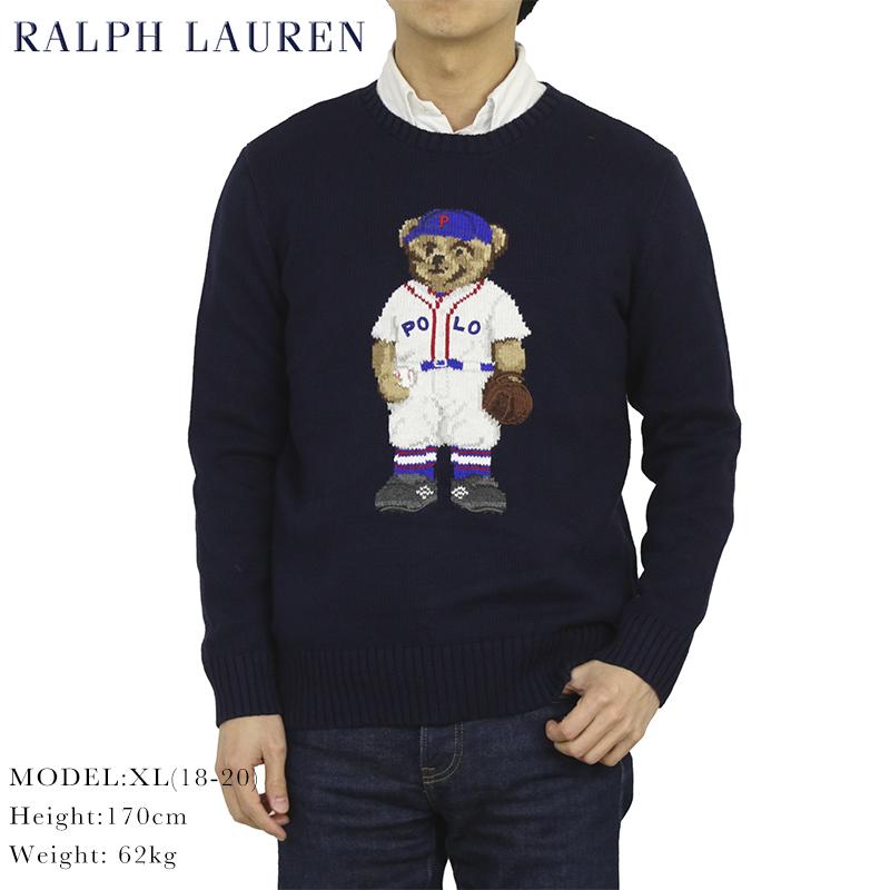 ポロ ラルフローレン ボーイズ コットンニット ポロベアー クルーネック セーター POLO Ralph Lauren Boy's Cotton