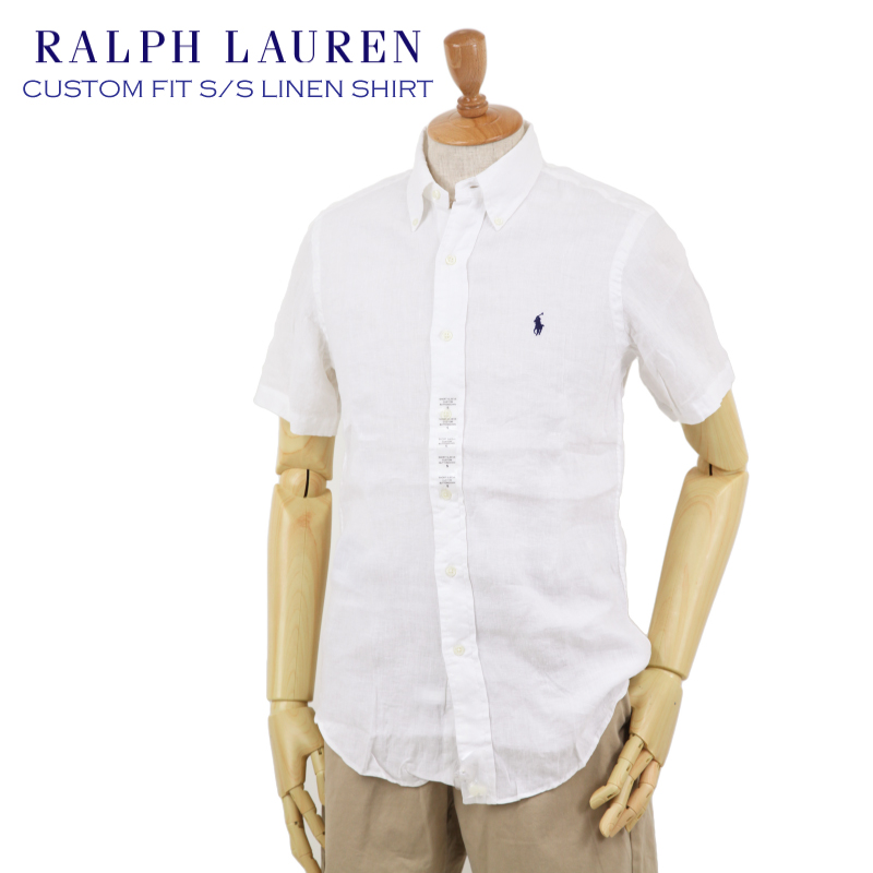 Lauren Custom Fit Men's Ss Linen AbjnutsRalph Shirts ZikOXPuT