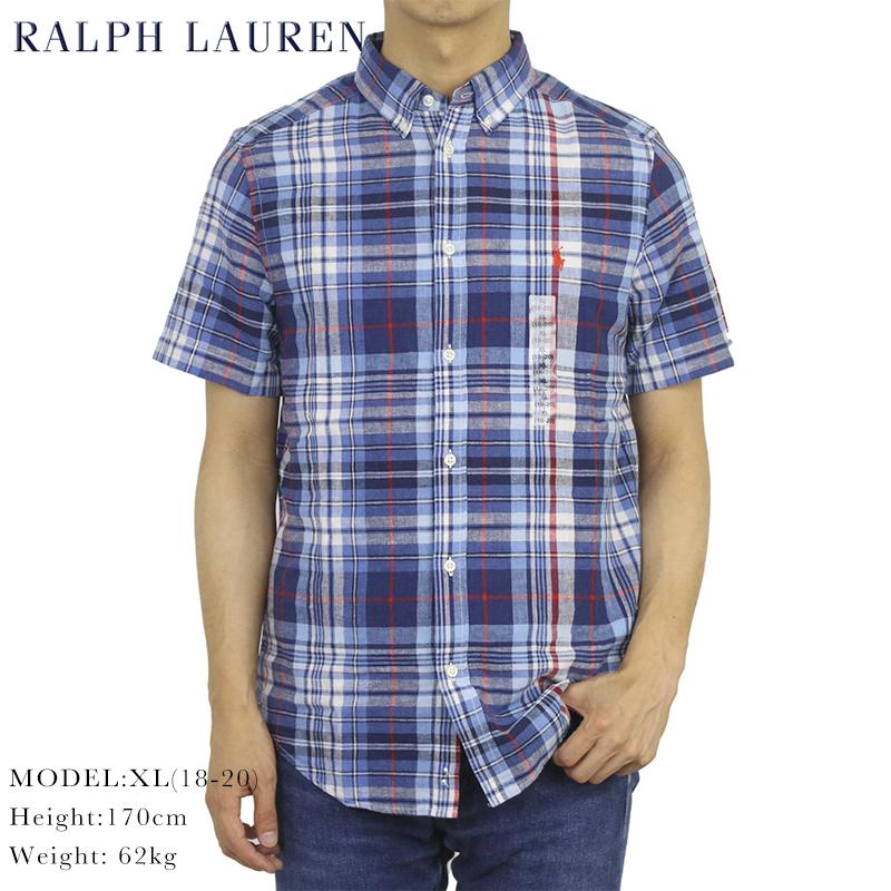 ボーイズ ポロ ラルフローレン 半袖 麻 リネン ボタンダウンシャツ POLO Ralph Lauren Boy's S/S Linen Shirts
