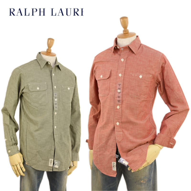 b58e7bc8252 abjnuts  Ralph Lauren Men s Vintage Chambray Shirts US polo Ralph ...
