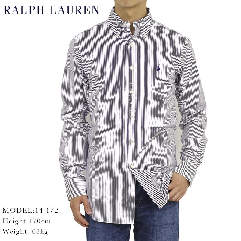 ポロ ラルフローレン スリムフィット ボタンダウン ストライプ ドレス 長袖シャツ POLO Ralph Lauren Men's