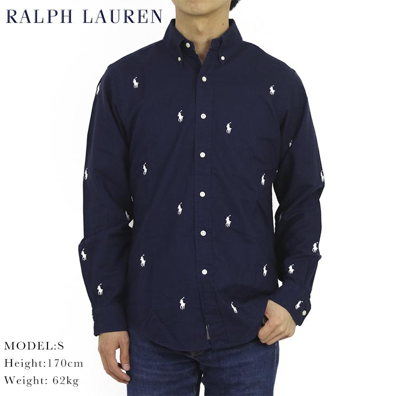 ポロ ラルフローレン ボタンダウン オックスフォード 長袖シャツ クラシックフィット マルチポニー刺繍 POLO Ralph Lauren Men's
