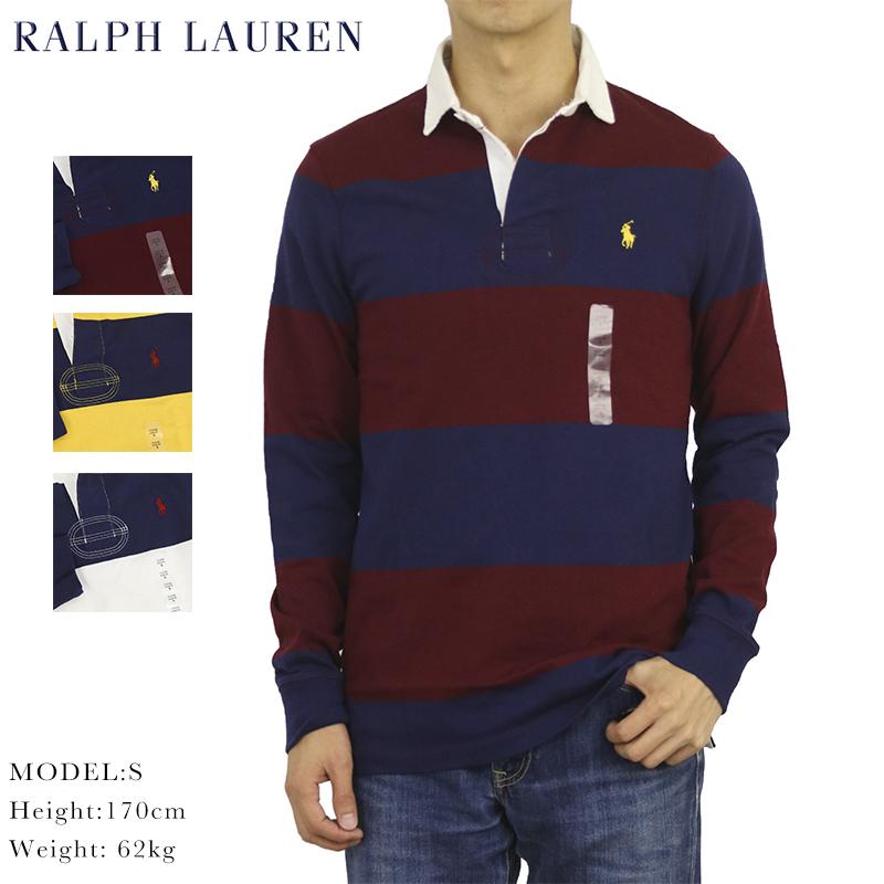 ポロ ラルフローレン カスタムスリムフィット ボーダー 長袖 ラガーシャツ POLO Ralph Lauren Men's