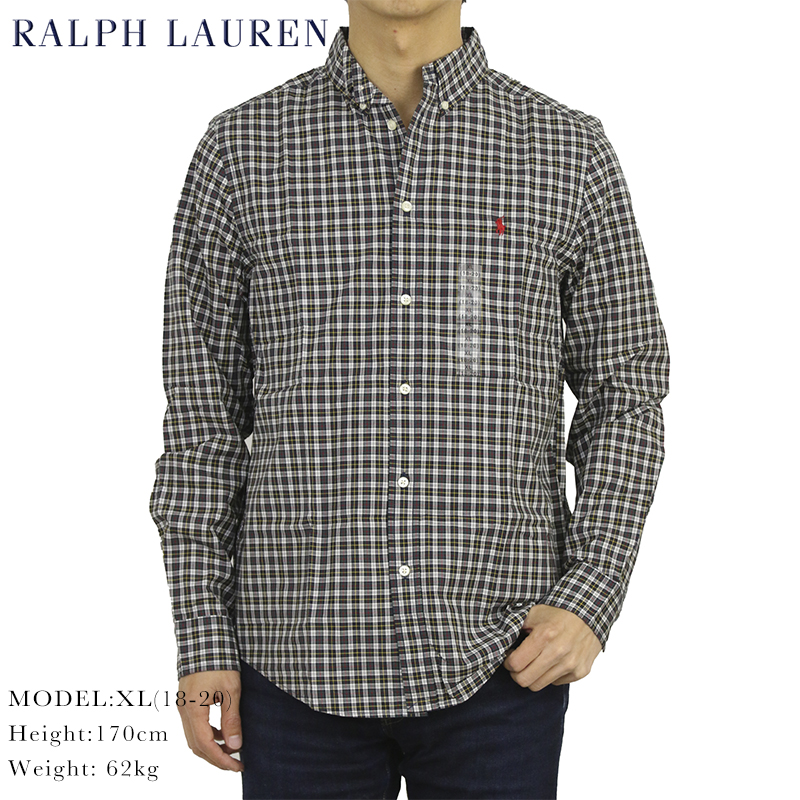 ラルフローレン ボーイズサイズの長袖シャツ ポロ ボーイズ 新作通販 ボタンダウン 長袖シャツ ワンポイント メーカー在庫限り品 Ralph s POLO Lauren boy's B.D.Shirts l