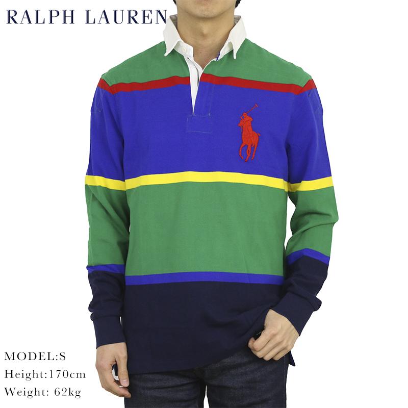 ポロ ラルフローレン ビッグポニー ハーフジップ 長袖 ラガーシャツ POLO Ralph Lauren Men's Half-Zip Rugger Shirt US