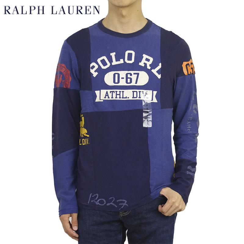 ポロ ラルフローレン メンズ パッチワーク 長袖Tシャツ POLO Ralph Lauren Men's Patchwork Crew l/s T-shirts US