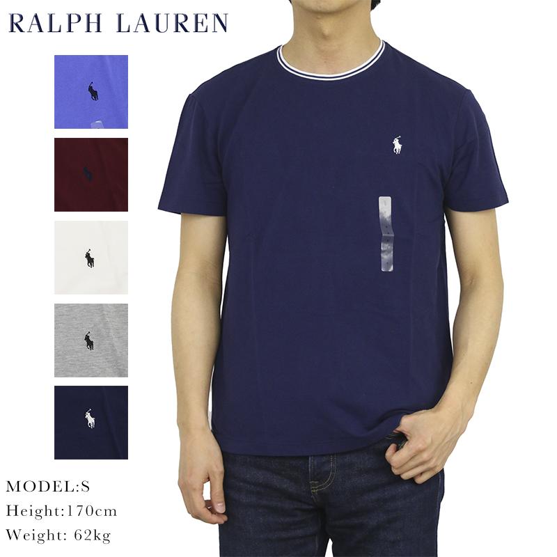 USラルフローレン メンズ 無地 クルーネック Tシャツ ポロ ラルフローレン 予約販売品 鹿の子生地 POLO Crew-Neck 定番の人気シリーズPOINT(ポイント)入荷 T-shirts Men's Lauren ワンポイント UPS Ralph