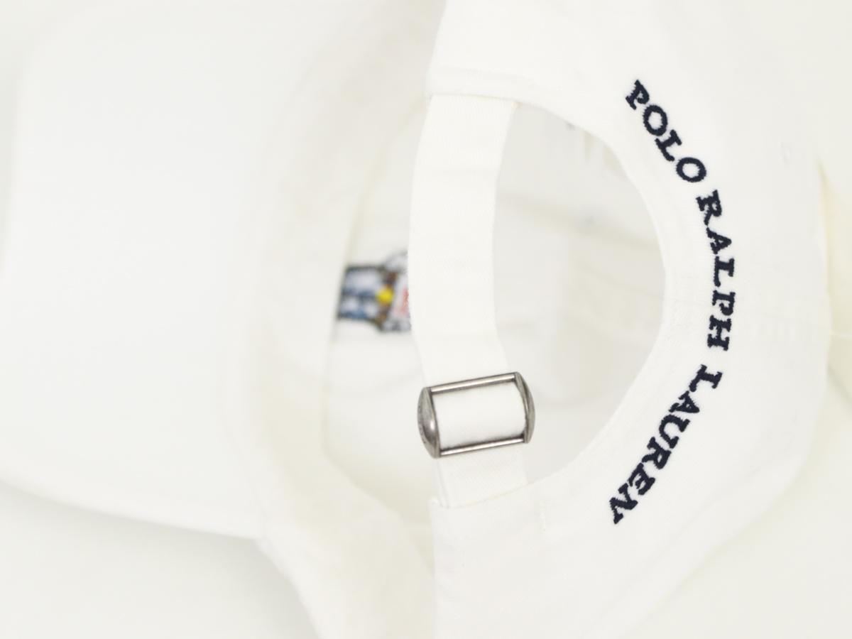 """ポロ ラルフローレン キャップ ワンポイント ポロベアー刺繍ハット Polo by Ralph Lauren """"POLO BEAR"""" Baseball Cap US (WHITE)"""