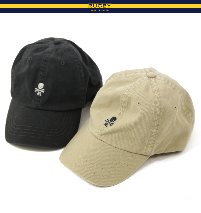 64caaf1a97 abjnuts  RUGBY by Ralph Lauren Skull Baseball Cap Rugby Union ...