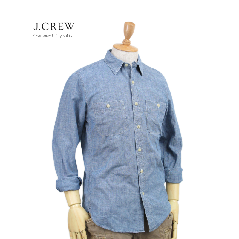 sneakers save off great prices abjnuts: J.CREW Men's l/s Chambray Utility Shirts US J. Crew long ...