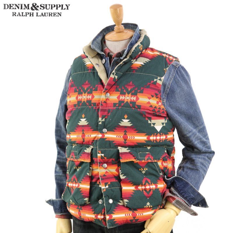 Denim & Supply Ralph Lauren Men's Reversible Down Vest デニム&サプライ ラルフローレン メンズ ダウンベスト